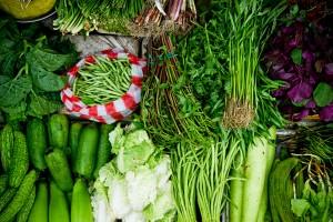 Vegetais. Foto de Lou Liebau